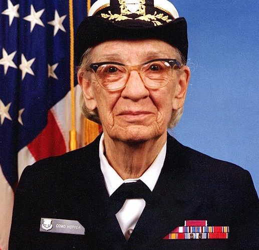 Grace_Hopper, fot. James S. Davis Naval History and Heritage Command, Wikipedia